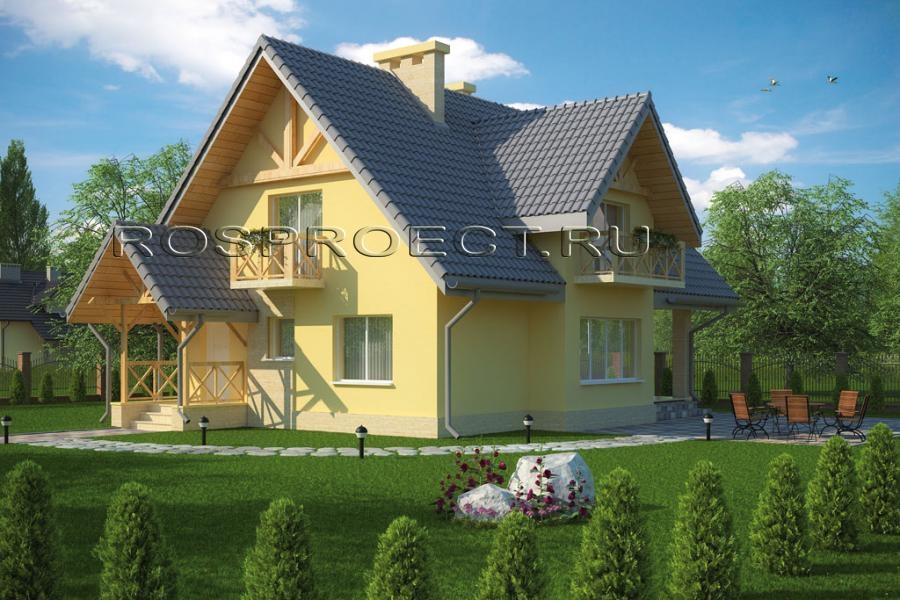 Элегантный европейский дом роспроэкт